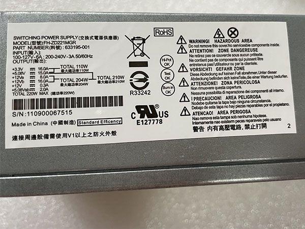 HP PCA222 633196-001 PS-6221-7